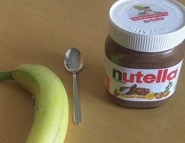 Bananen mit Nutella