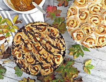 Herbstliche Pumpkin Pie Rolls