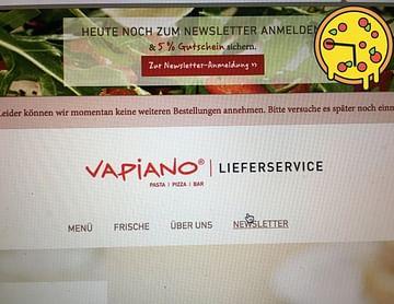 - weils der Vapiano IMMER zu voll mit Bestellungen ist, bestell ich auf Lieferservice.at :3