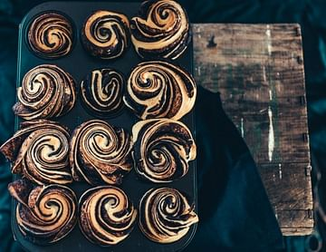 Schokoladenbriocherosen