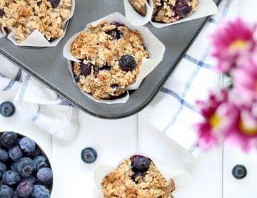 Schmackhafte Heidelbeermuffins ohne Zucker