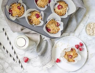 Himbeer-Hafer-Muffins