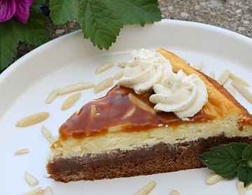 Lebkuchenbrownie mit Cheesecake-Topping