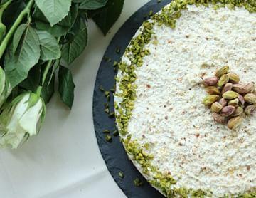Paleo Raw - Cheesecake mit Pistazien und Zitrone