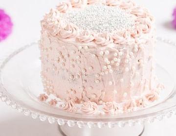 Vegane Vanille-Perlen-Torte + Blüten-Cupcakes