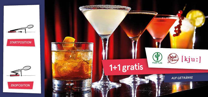 1+1 gratis auf Getränke