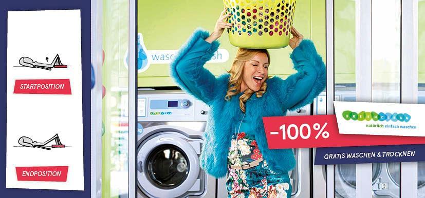 Gratis Waschen & Trocknen