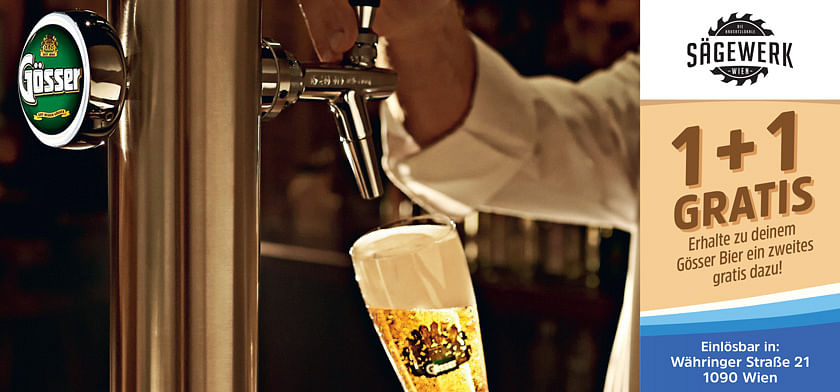1+1 gratis Gösser Bier