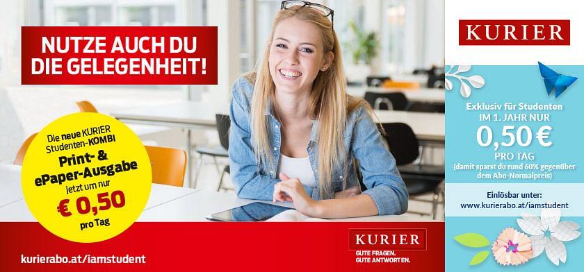 Exklusiv für Studenten IM 1. JAHR NUR 0,50 € PRO TAG