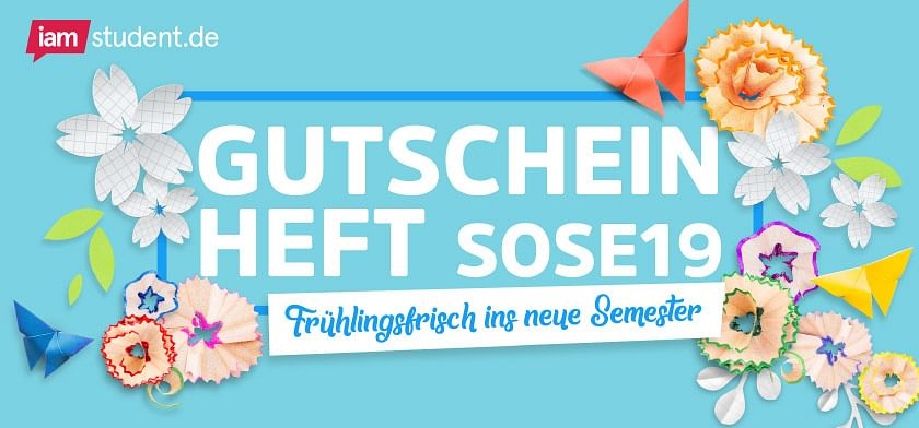 iamstudent.de Gutscheinheft Sommersemester 2019