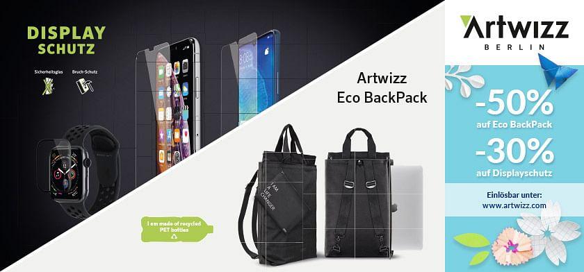 50% auf Eco BackPack 30% auf Displayschutz