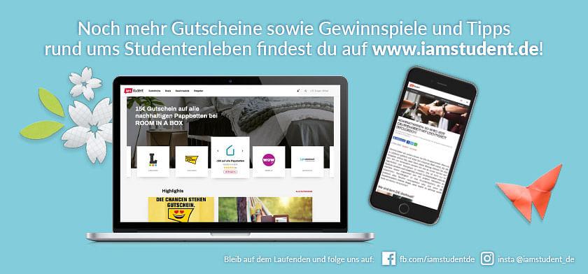 Noch mehr Gutscheine & Gewinnspiele findest du auf iamstudent.de