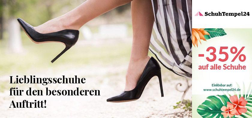 35% Rabatt auf alle Schuhe