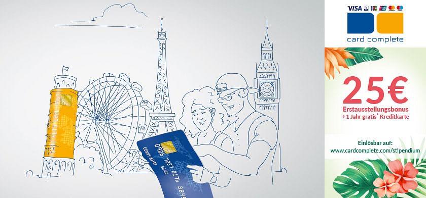 25€ Erstausstellungsbonus + 1 Jahr gratis Kreditkarte