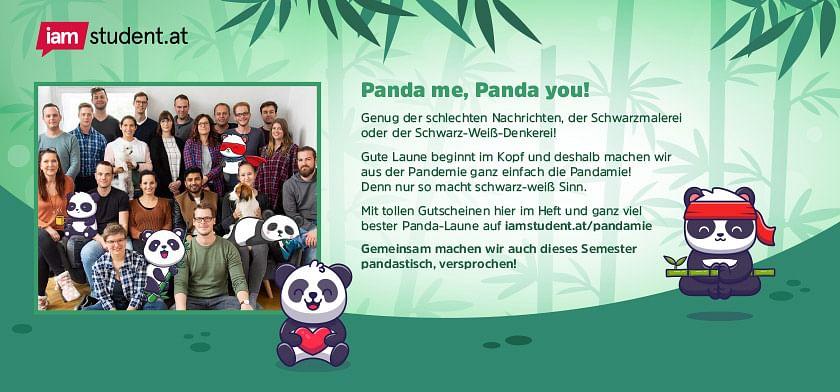 Das iamstudent-Team wünscht ein pandastisches Semester
