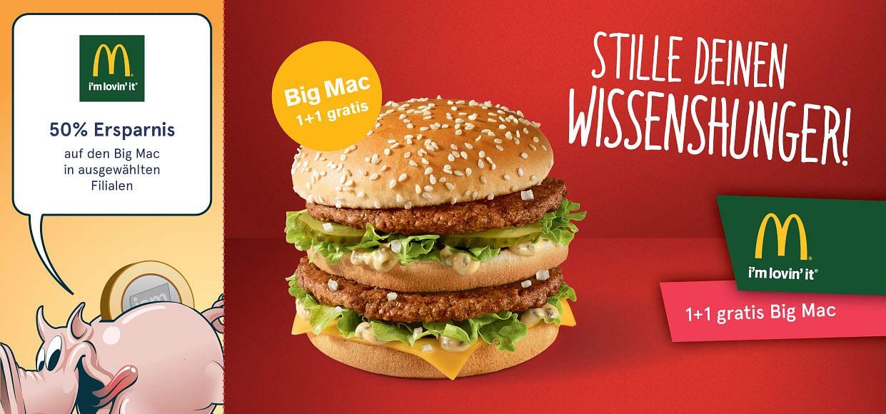 1+1 gratis Big Mac