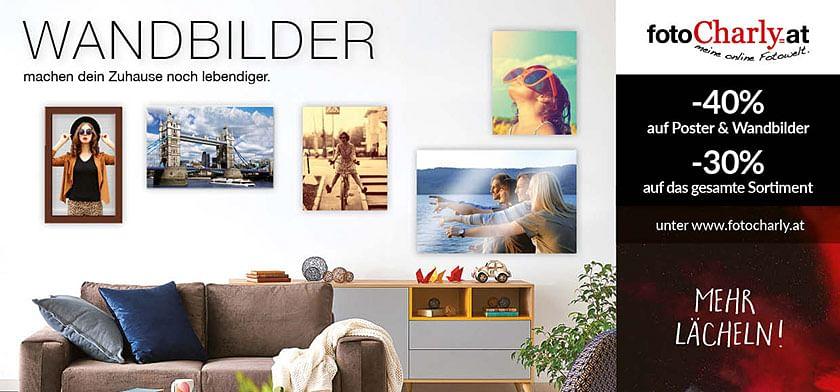 -40% auf Poster & Wandbilder und -30% auf das gesamte Sortiment