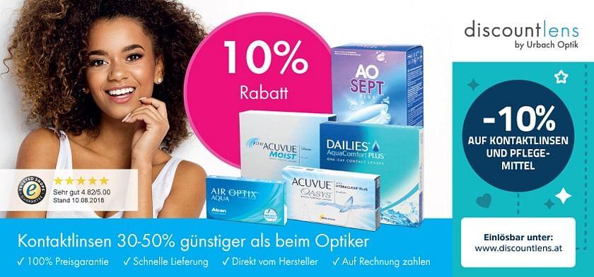 10% Rabatt auf Kontaktlinsen und Pflegemittel