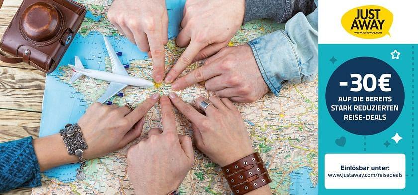 30€ Gutschein auf bereits reduzierte Reiseangebote