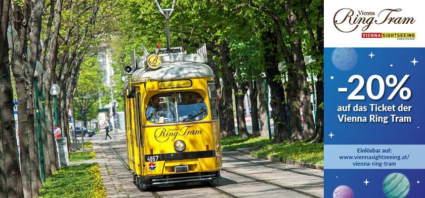 20% Rabatt auf das Ticket der Vienna Ring Tram