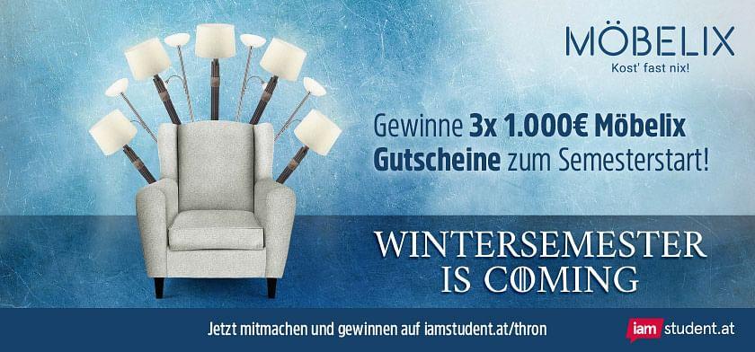 Möbelix Wintersemester is coming - gewinne 3.000€ Möbelix Gutscheine