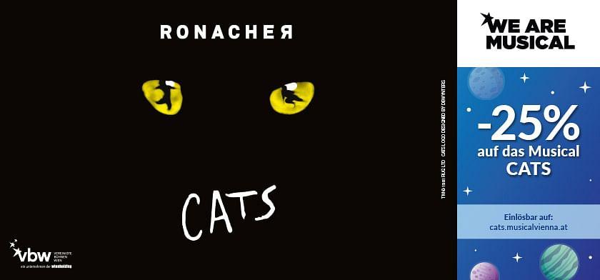 25% Rabatt auf das Musical CATS