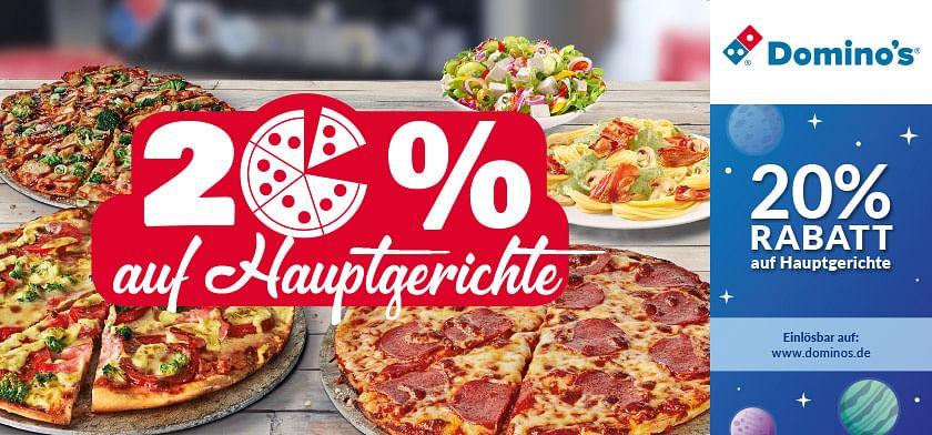 20% Rabatt auf Hauptgerichte
