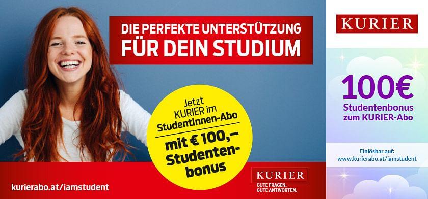 100€ Studentenbonus zum KURIER-Abo