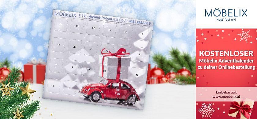 KOSTENLOSER Möbelix Adventkalender zu deiner Onlinebestellung