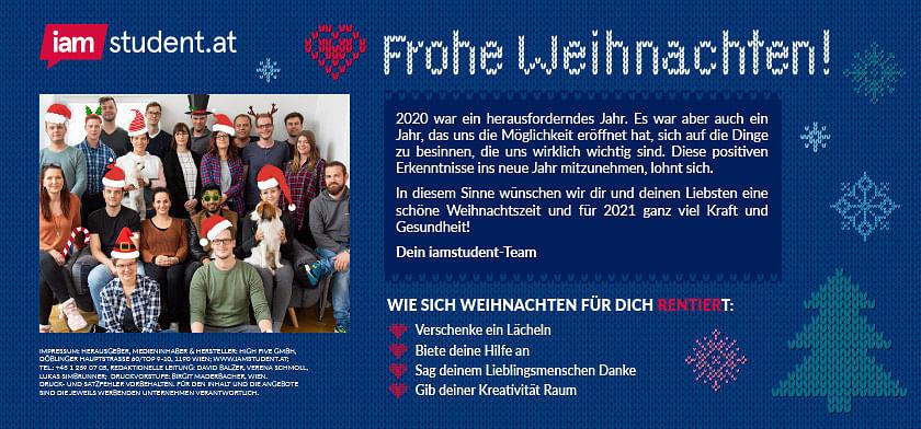 Frohe Weihnachten vom iamstudent-Team