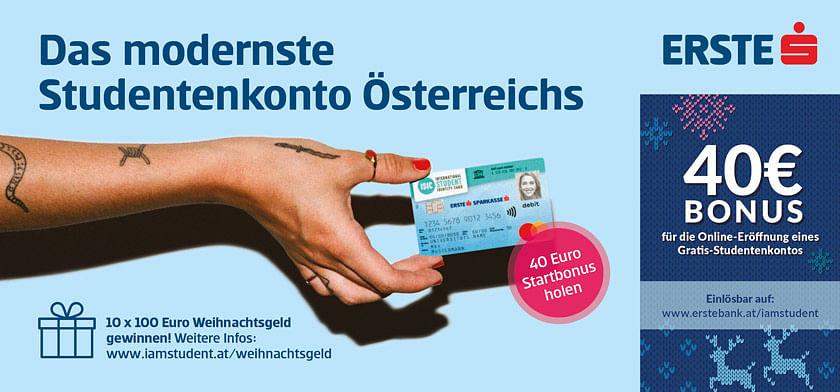 40€ Bonus für die Online-Eröffnung eines Gratis-Studentenkontos