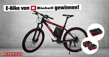 Gewinne ein E-Bike von Einhell