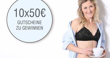 10x 50€ Gutscheine von comazo