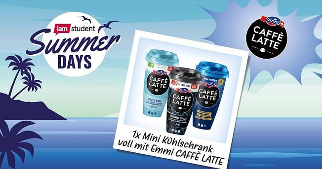 1x Mini Kühlschrank voll mit Emmi CAFFÈ LATTE