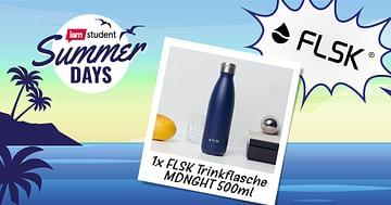 1x FLSK Trinkflasche MDNGHT 500 ml