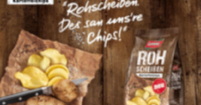 5x 10 Packungen Rohscheiben Kartoffelchips