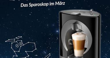 Gewinne 4x1 KRUPS Kapselkaffeemaschine von Möbelix!
