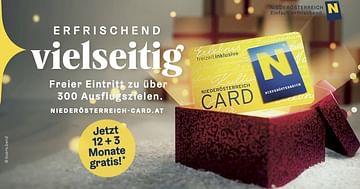 3x1 Niederösterreich-CARD zu gewinnen
