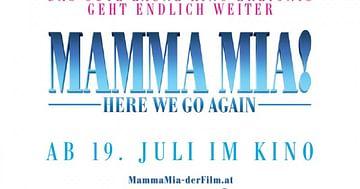 Gewinne Kinokarten und Goodies für MAMMA MIA! HERE WE GO AGAIN