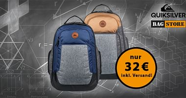 Bei BAG STORE dreht sich alles um die namensgebenden praktischen Begleiter. Mit unserem BAG STORE Studentenrabatt sicherst du dir den Quiksilver Shutter Rucksack um nur 32€ statt 55,99€!