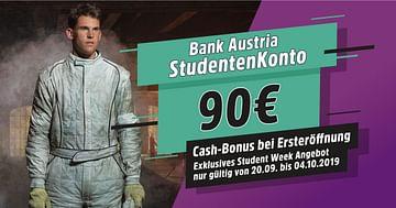 90€ geschenkt bei der STUDENT WEEK Aktion der Bank Austria!