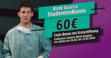 60€ geschenkt bei der STUDENT WEEK Aktion der Bank Austria!
