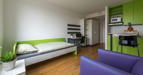 Ob für ein Sommerkolleg, ein Praktikum oder einen längeren Urlaub in Wien: ImbaseStudentenwohnheim wartet deine Unterkunft auf dich und du sparst dir jetzt 120€auf deine Buchung.