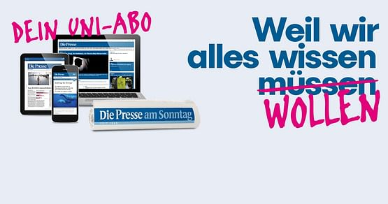 """""""Die Presse"""" schreibt für dich. Tag für Tag. Studenten lesen """"Die Presse"""" mit unserem Gutschein jetzt um nur 8,90€ im Monat!"""