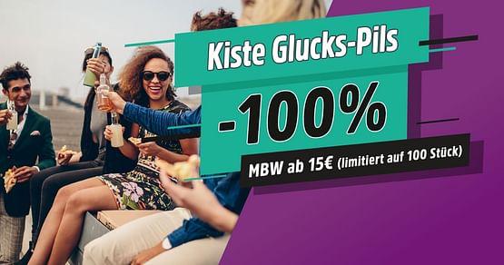 100x Kiste Glucks-Pils gratis
