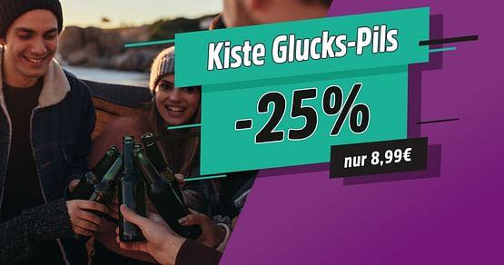 Kiste Glucks Pils für 8,99€