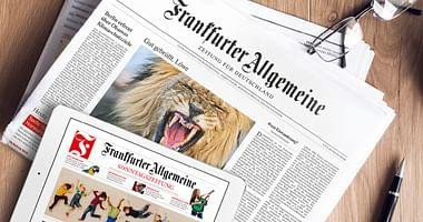 Du bist gerne auf dem Laufenden? Dann ist die Frankfurter Allgemeine Zeitung die perfekte Lektüre für dich. Mit unserem F.A.Z. Studentenrabatt sparst du 30% auf das Miniabo und bekommst ein kleines Geschenk obendrauf!