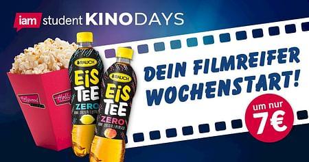 Cineasten aufgepasst, wir präsentieren voller Stolz dieiamstudent KinoDays: Mit unseremHollywood MegaplexStudentenrabatt holst du dir deinKinoticket inkl. kleine Popcorn und Getränk für filmreife7€!