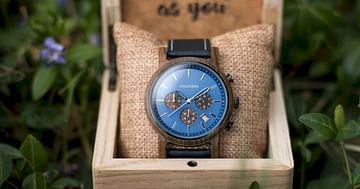 -20% auf stylische Holzuhren!