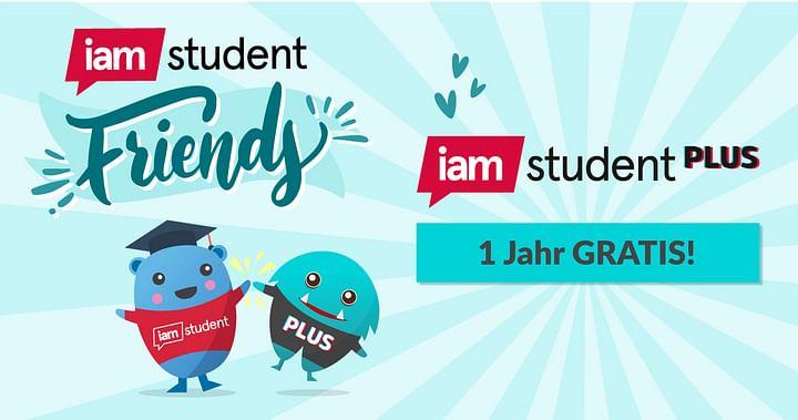 1 Jahr gratis iamstudent PLUS!
